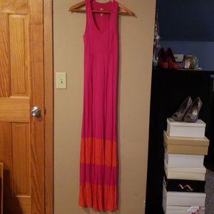 Mossimo Pink and Orange Maxi Dress Size XS